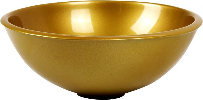 Cuba de Apoio Redonda 28 cm (Dourada Perolizada)
