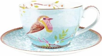 Xícara de Chá com Pires Azul Early Bird PIP Studio