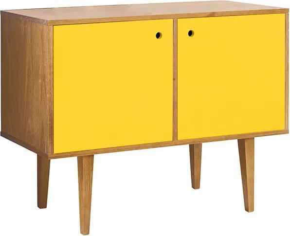 Buffet com 2 Portas Vintage Amarelo