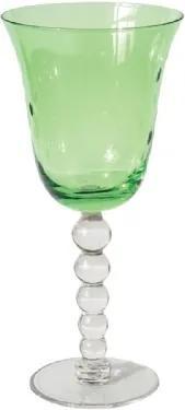 Conjunto Taças de Vidro para Vinho Lapidado Verde 190ml 6 peças