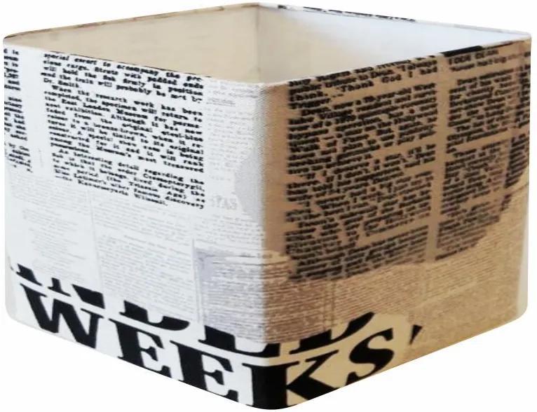 Cúpula em Tecido Quadrada Abajur Luminária Cp-25/35x35cm Ny-Jornal