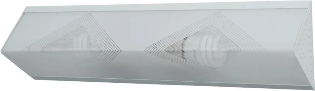Plafon Sobrepor Acrilico Branco 50cm X 13cm