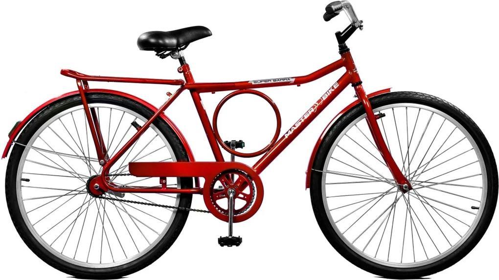 Bicicleta Master Bike Aro 26 masculina Super Barra Contrapedal Vermelho