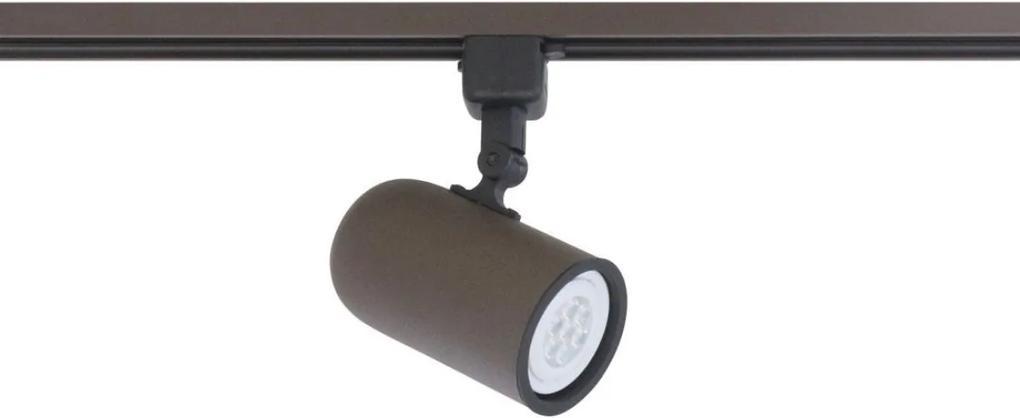 Spot Para Trilho Aluminio Cafe Par20 E27 Giga