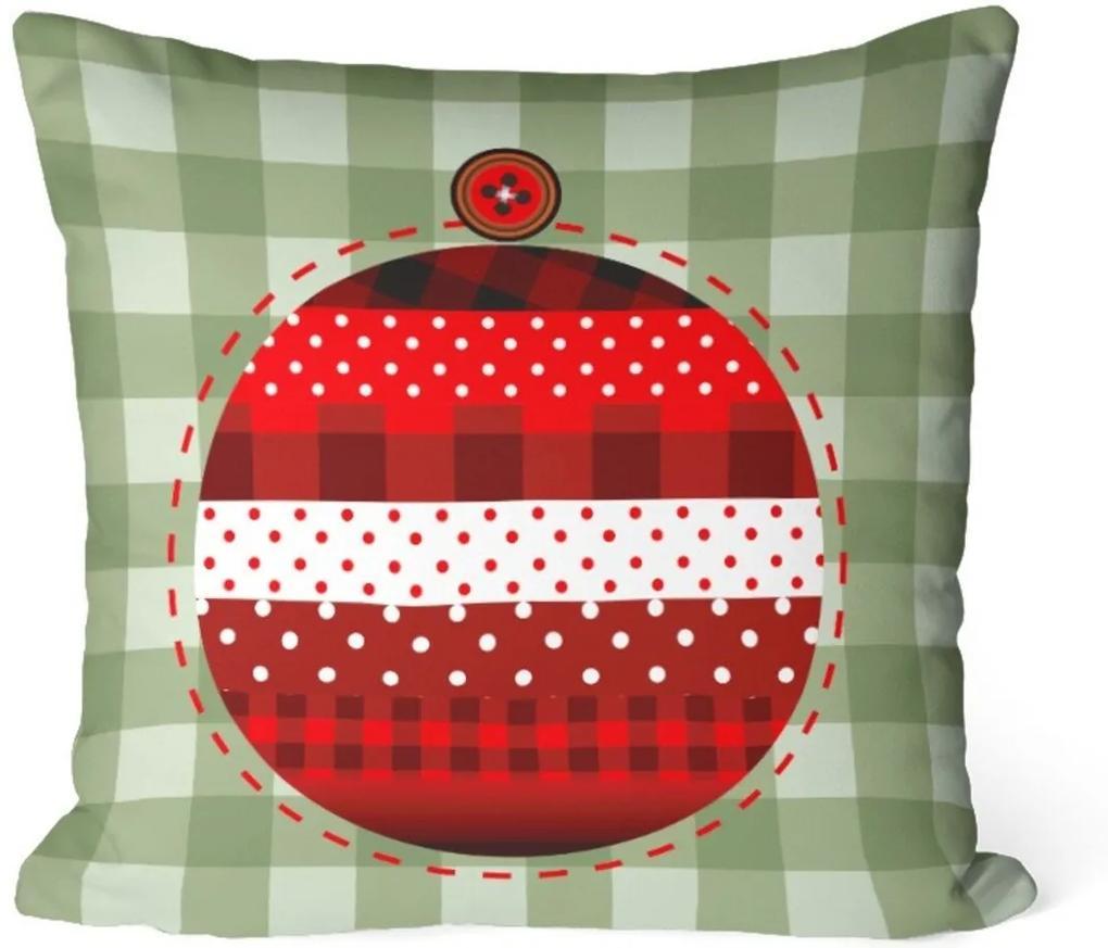 Capa de Almofada Love Decor Avulsa Decorativa Bola Natalina