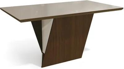 Mesa para Sala de Jantar 160cm Jasmim Walnut/Bronze - Kappesberg