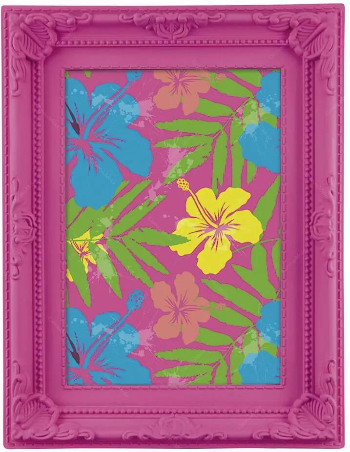 Porta-Retrato Neon - 13x18 cm - Rosa - 17,5x23 cm