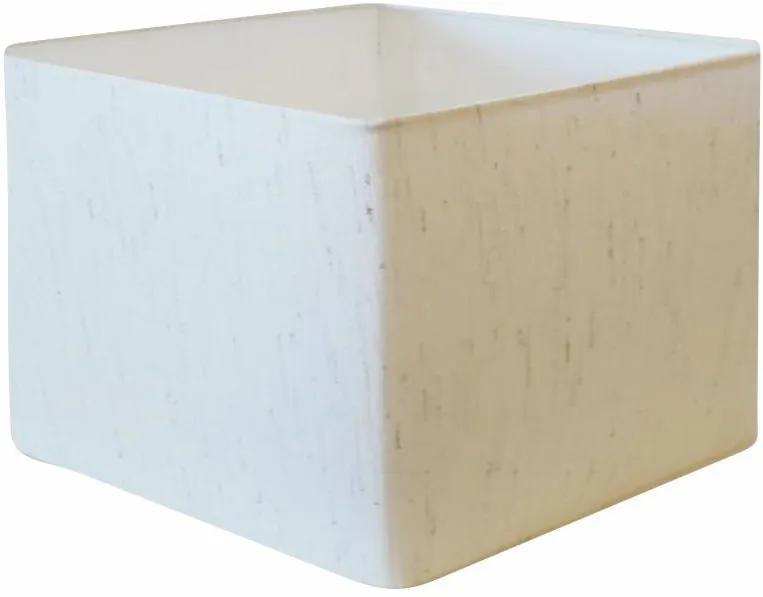 Cúpula em Tecido Quadrada Abajur Luminária Cp-25/35x35cm Linho Bege