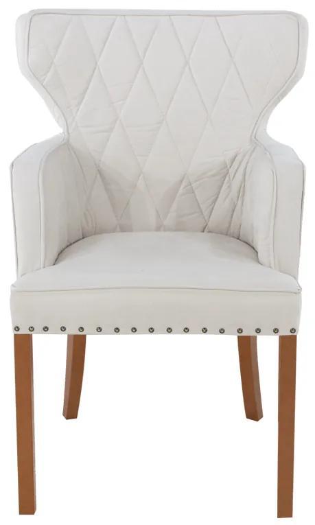 Cadeira de Jantar Estofada Matelassê com Tachas  - Wood Prime PP 33299