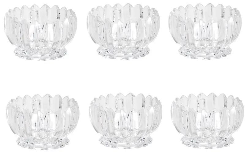 Jogo Sobremesa Cristal Geneva 11x6,5cm  6 Peças 25849 Wolff