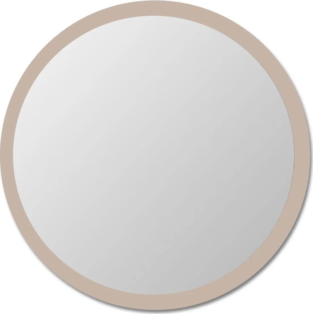 Espelho de parede redondo Edge - 90 borda Bege Vidrotec