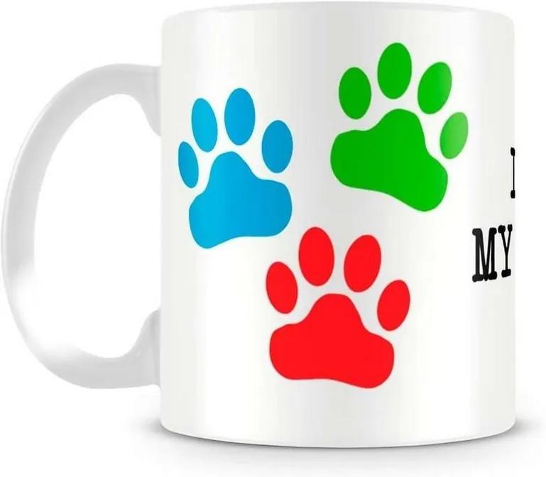 Caneca Personalizada I Love My Dog (Mod.1)
