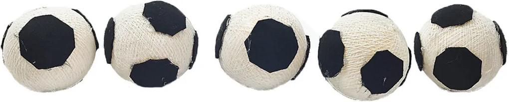 Luminária Decorativa Futebol - Pilha Cormilu Branco