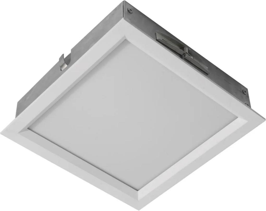 Plafon Embutir Branco Led 16w 6500k 24x24cm Sevilha