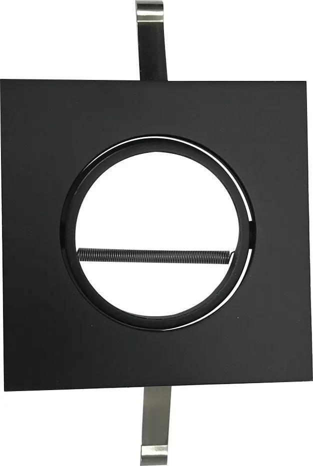 Embutido Direcional Quadrado para Dicróica Preto - BL1084/1PF - Bella Luce