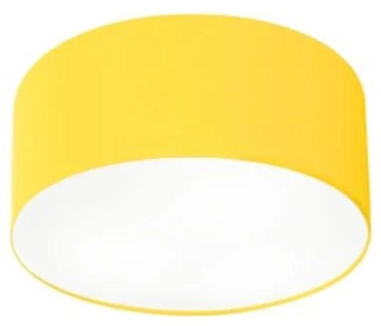 Plafon Cilíndrico Vivare Md-3010 Cúpula em Tecido 30x12cm - Bivolt - Amarelo - 110V/220V (Bivolt)