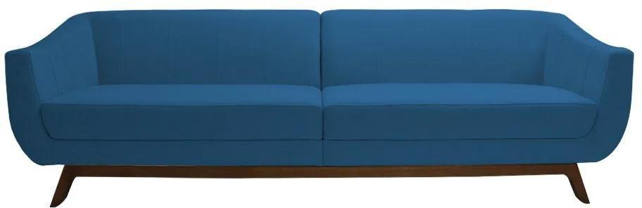 Sofá Boomer 230cm Veludo Azul - Gran Belo