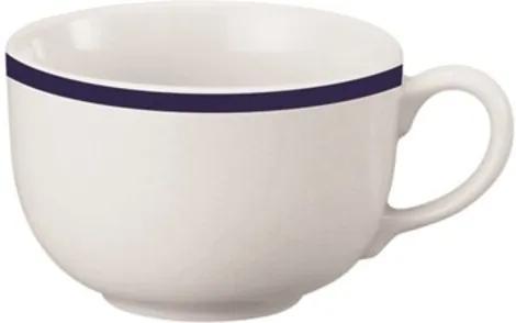 Xícara Café com Pires 90 ml Porcelana Schmidt - Dec. Filete Azul