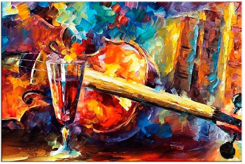 Tela Decorativa Pintura Violino Médio Love Decor