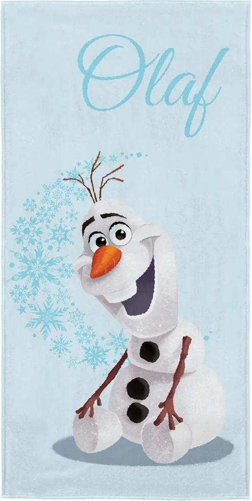 Toalha de Banho Infantil Frozen Olaf Azul Claro Lepper