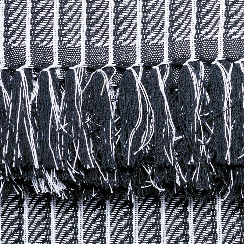 Manta para Sofá Black & White Escamas de 1,40 x 2,00 m