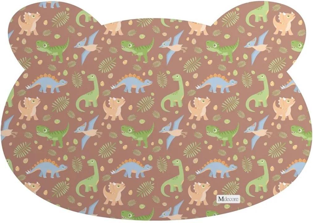 Tapete PET Mdecore Urso Dinossauro Marrom 54x39cm