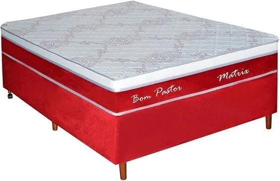 Conjunto Box Matrix Casal 138cm com molas - Bom Pastor Unica