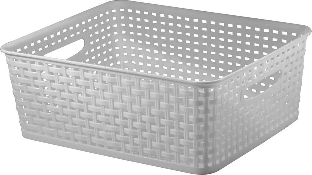 Caixa Cesto Organizador com tampa - Branco M