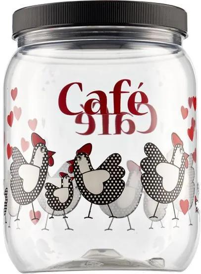 Pote para Mantimentos com Tampa Galinha Café