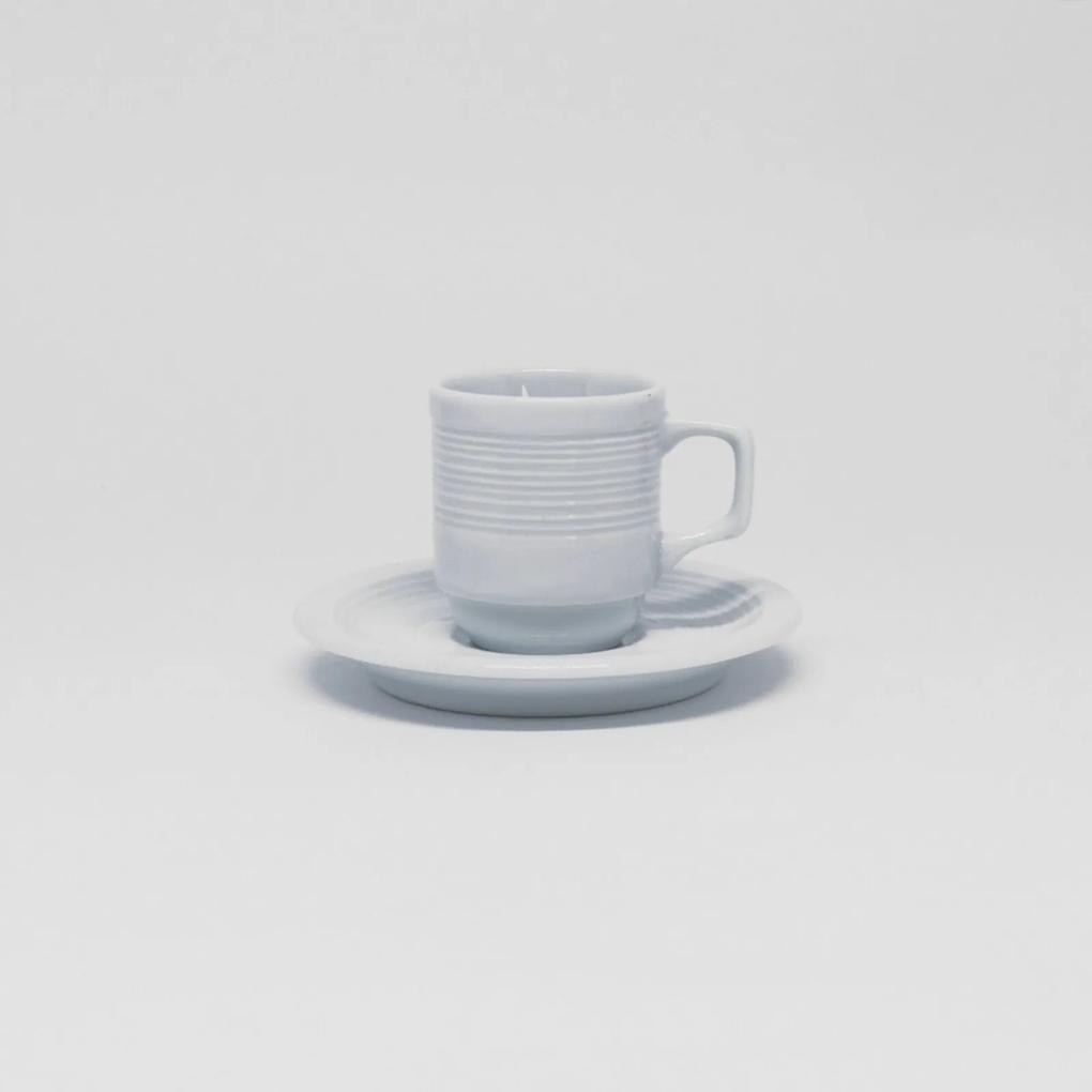 Xícara Café Com Pires 60 ml Porcelana Schmidt - Mod. Saturno Empilhável