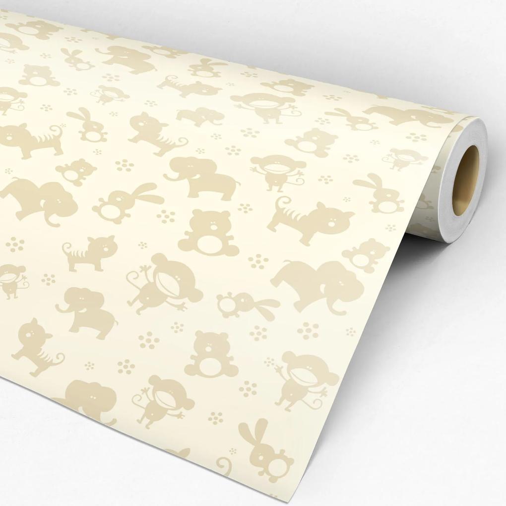 Papel de parede adesivo animal bichinhos
