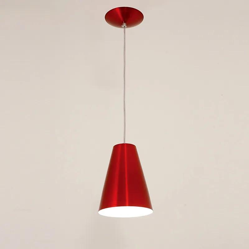 Pendente Cadiz para 1 Lâmpada Verniz Vermelho