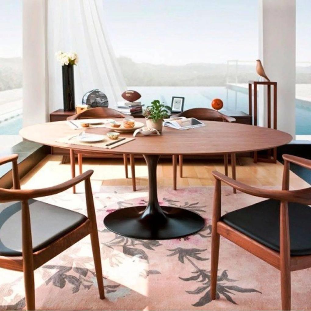 Mesa Jantar Oval Saarinen Madeira 210x120x75