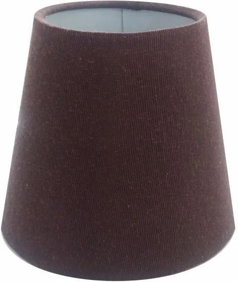 Cúpula em Tecido Cone Abajur Luminária Cp-2004 14/08x13cm Café