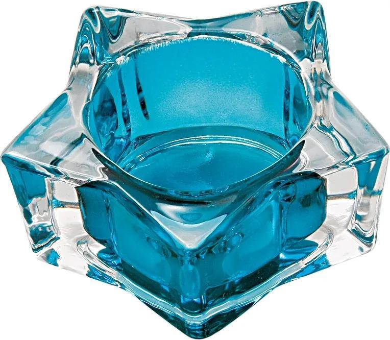 castiçal ESTRELA vidro 7cm Ilunato BC0025D