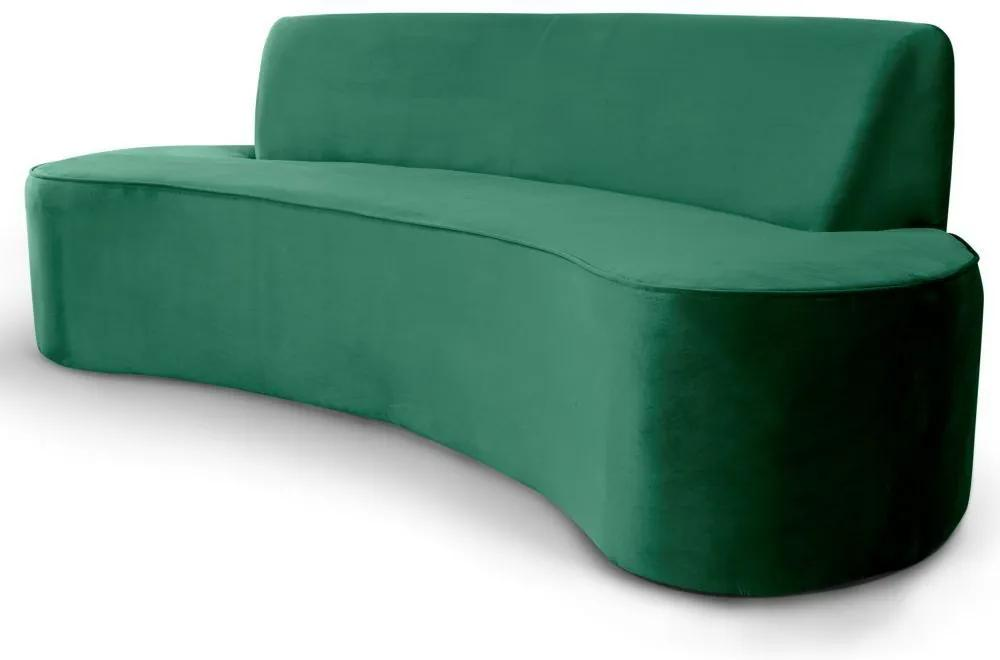 Sofá 3 Lugares Sala de Estar 230 cm Bélgica Veludo Verde - Gran Belo