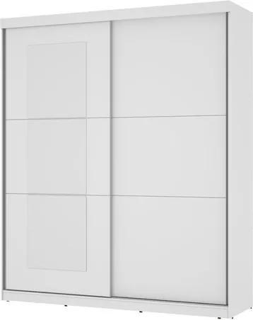 Guarda-Roupa Caribe Com Espelho Branco– Mirarack