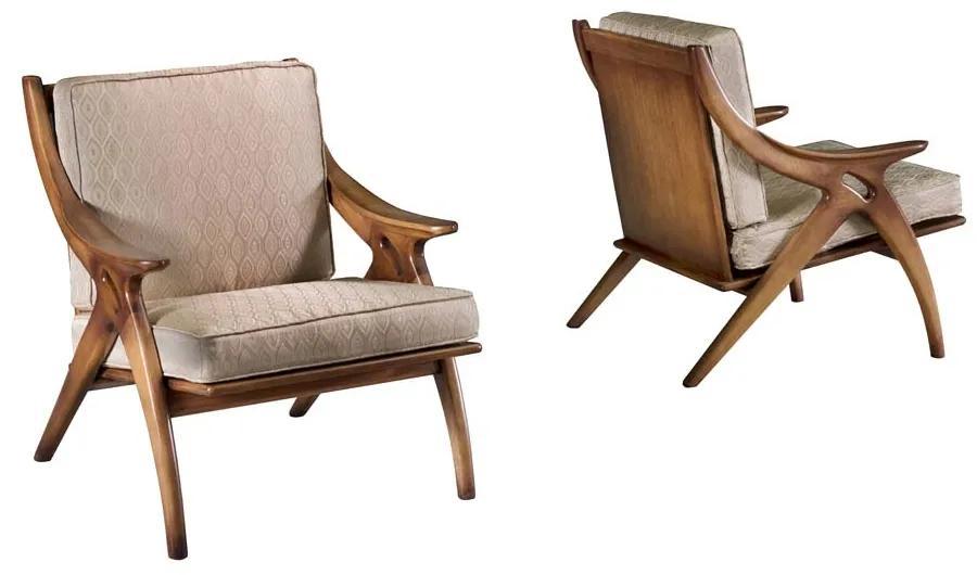 Poltrona Affeto Madeira Maciça Design Clássico Avi Móveis