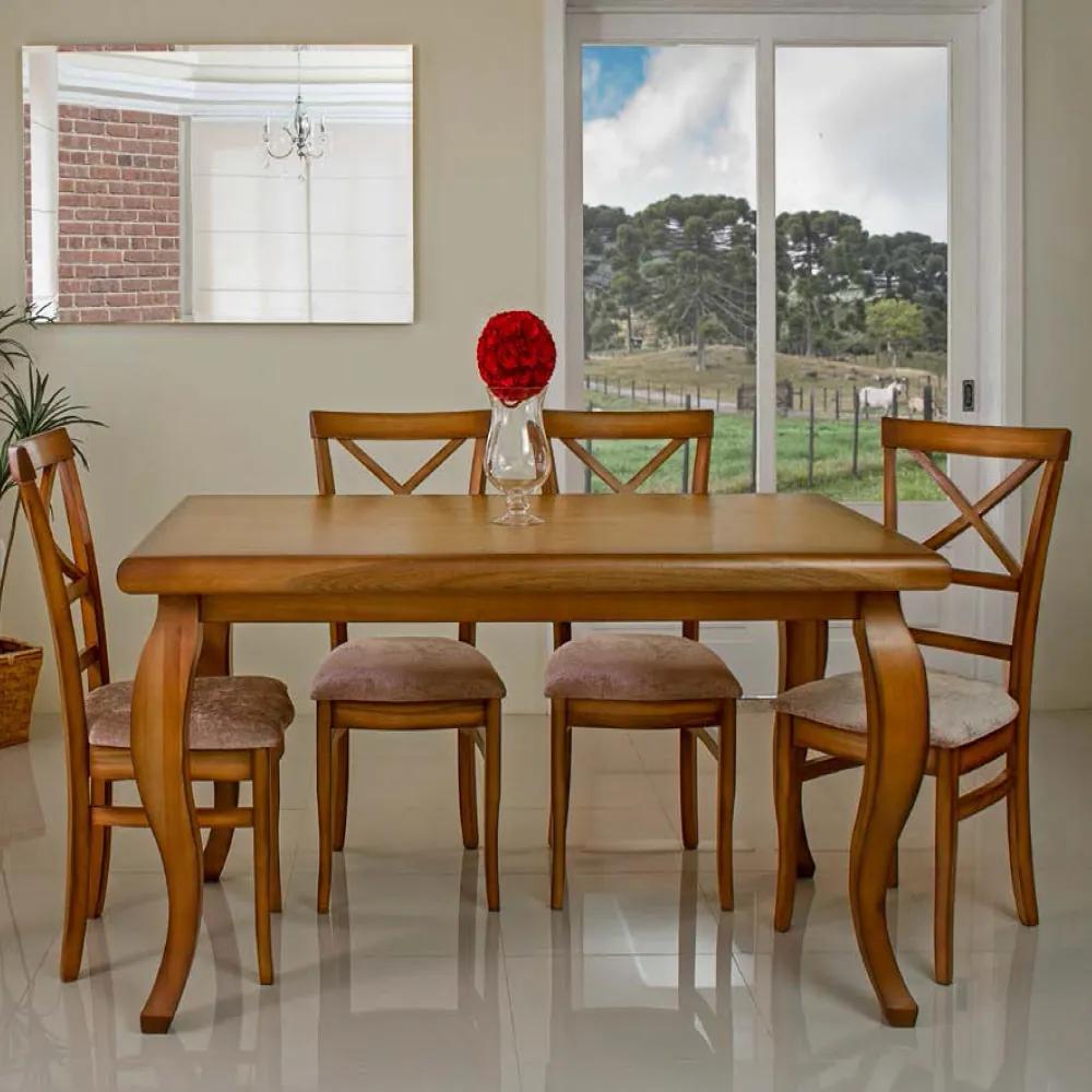 Conjunto de Jantar Sofisticare com 6 Cadeiras -