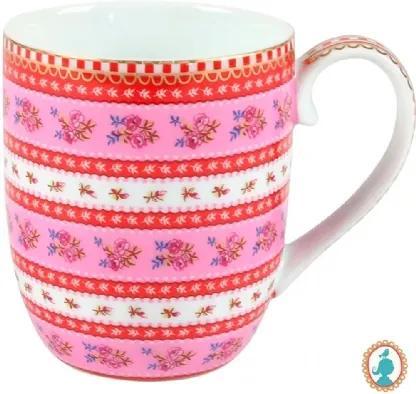 Caneca Pequena Ribbon Rosa - Floral - Pip Studio