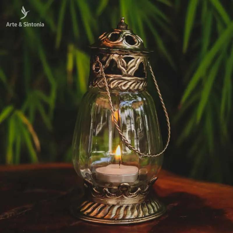Lanterna Indiana Rústica p/ Vela