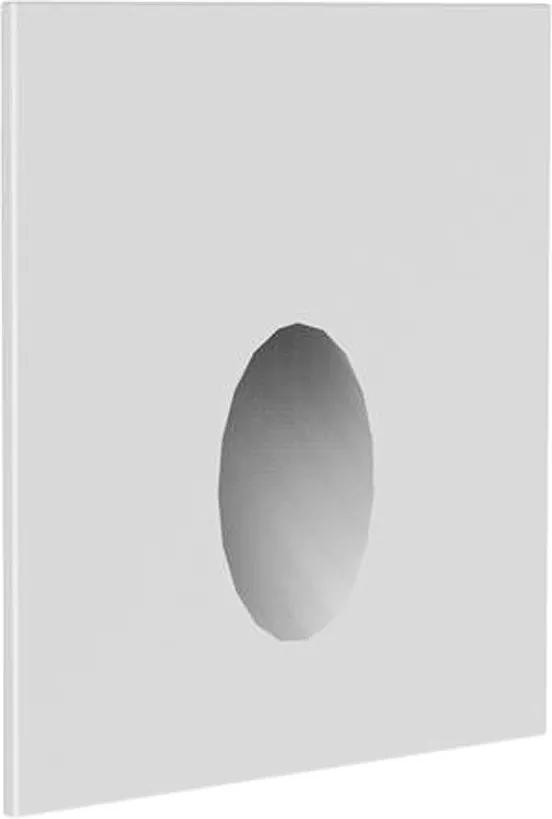 Balizador Embutir Aluminio Branco Led 0,75w 2700k Ip65