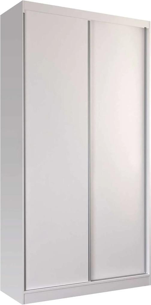 Guarda-Roupa Solteiro 2 Portas De Correr Branco M Foscarini