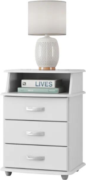 Mesa De Cabeceira Luxo Branco - EJ Móveis