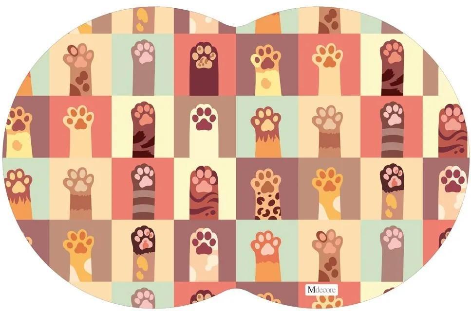 Tapete PET Patinha de Gato Colorido54x39cm