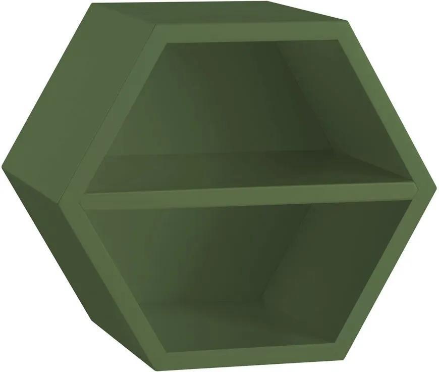 Nicho Com Prateleira Favo 1151 Verde Musgo - Maxima