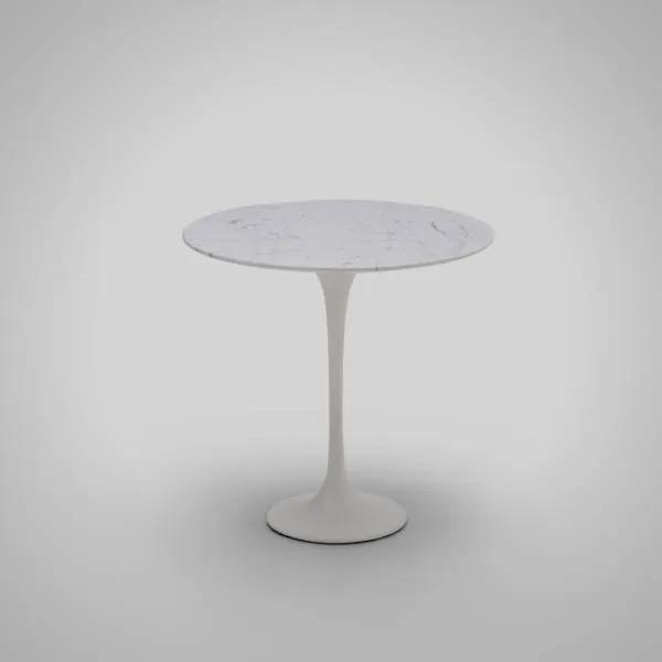 Mesa de Apoio Tulip Alumínio Tampo Laminado Artesian Clássicos de Design by Eero Saarinen