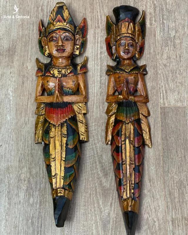 Casal Rama e Sita Natural 50cm