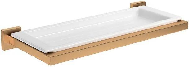 Prateleira Quadratta Gold Matte - 2030.GL83.MT - Deca - Deca