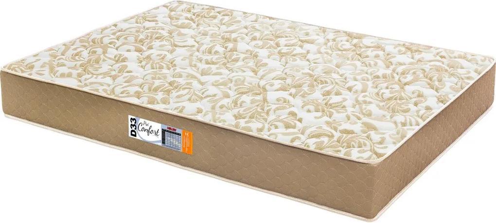 Colchão Casal Espuma Pro Confort D33 138X188X19 Caqui Hellen